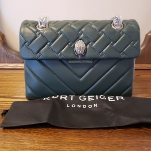 Kurt Geiger Kensington Quilted Leather - Green